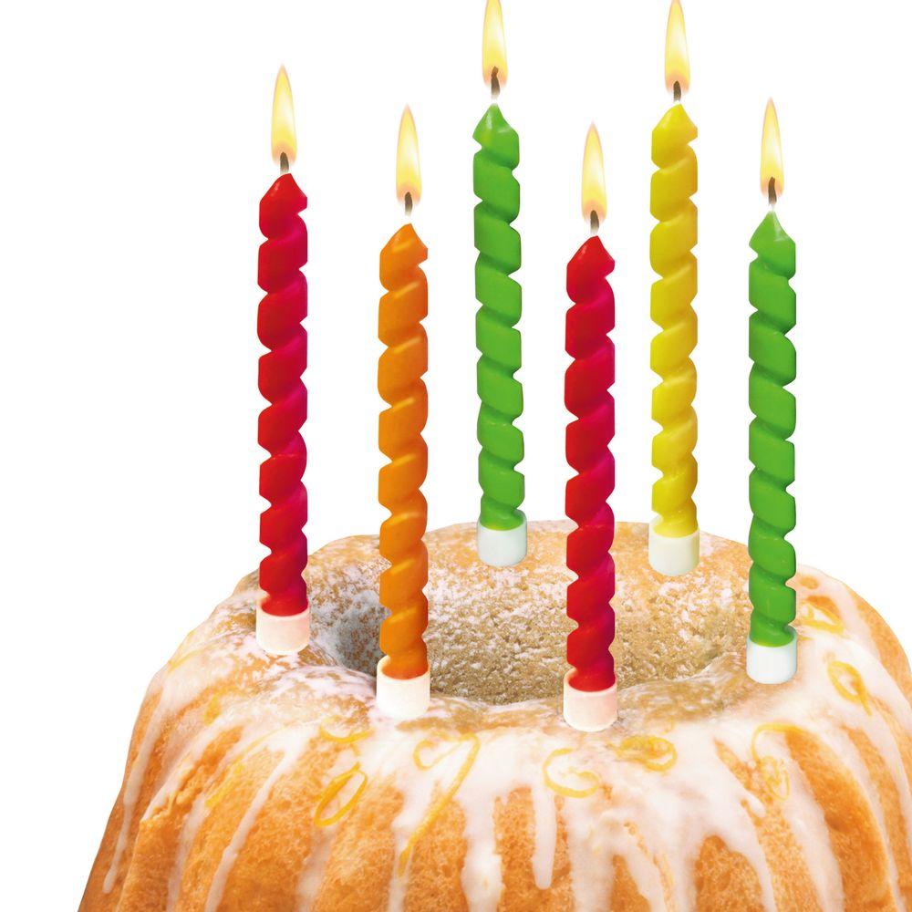 Susy Card Свечи для торта детские Twister 6 шт