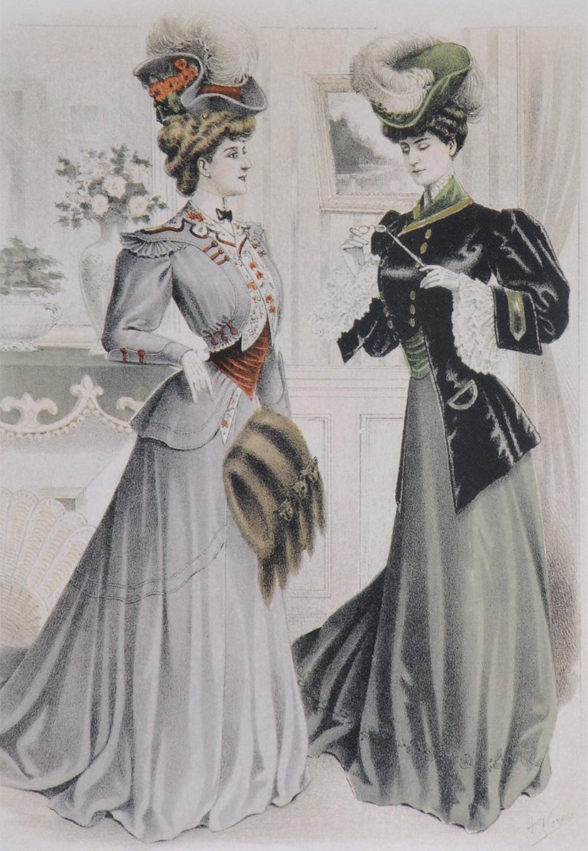 Вестник моды. 1904–1906 (набор из 12 открыток) вестник моды 1894 набор открыток