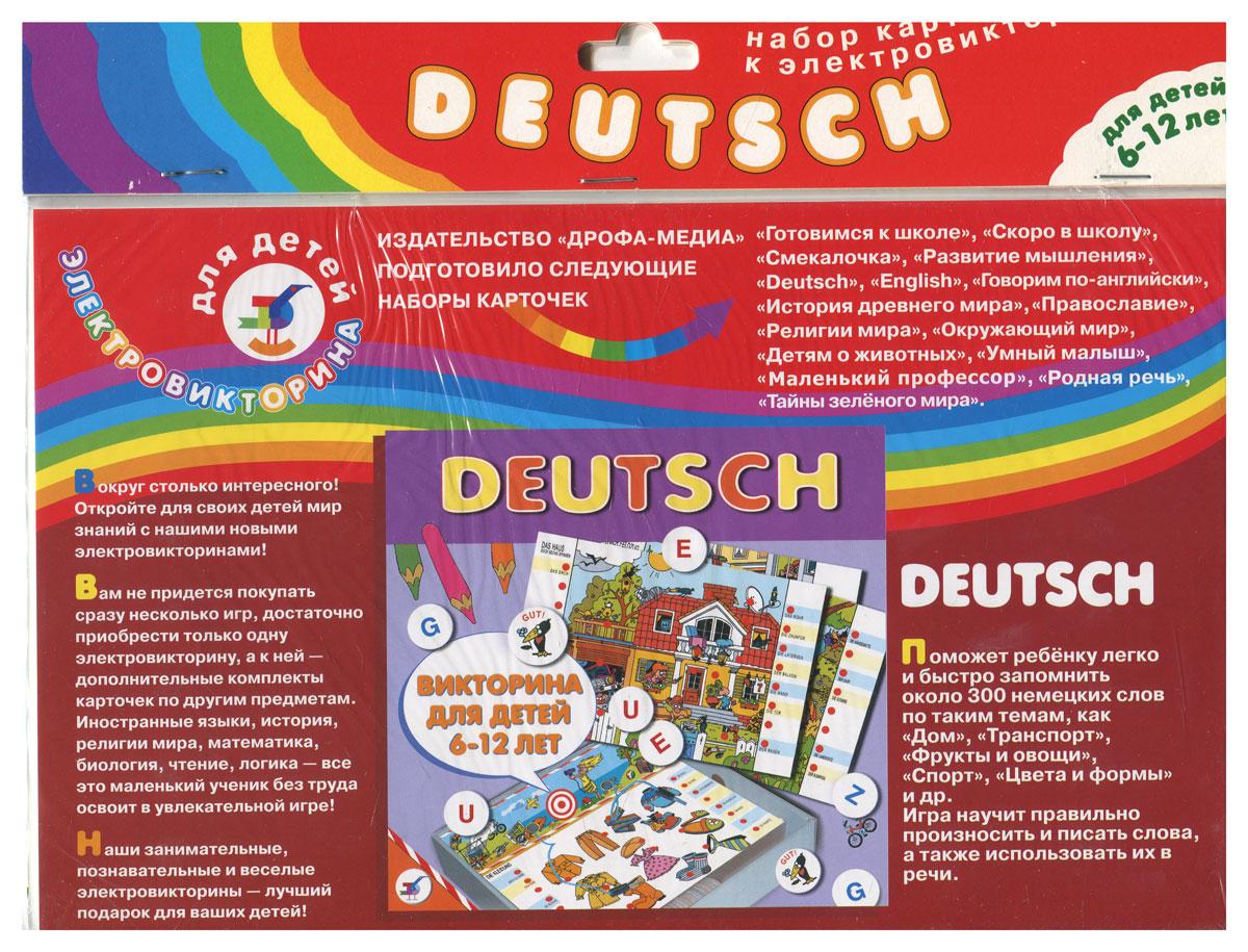 купить Дрофа-Медиа Набор карточек Deutsch по цене 119 рублей