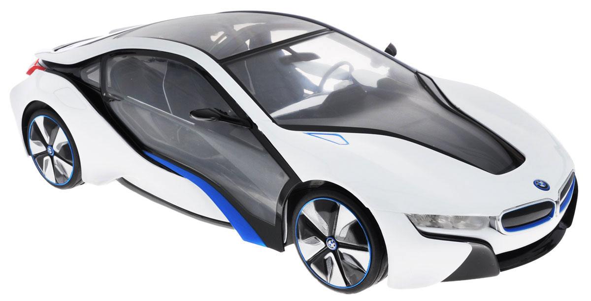 Rastar Радиоуправляемая модель BMW i8 цвет белый серый масштаб 1:14 цена