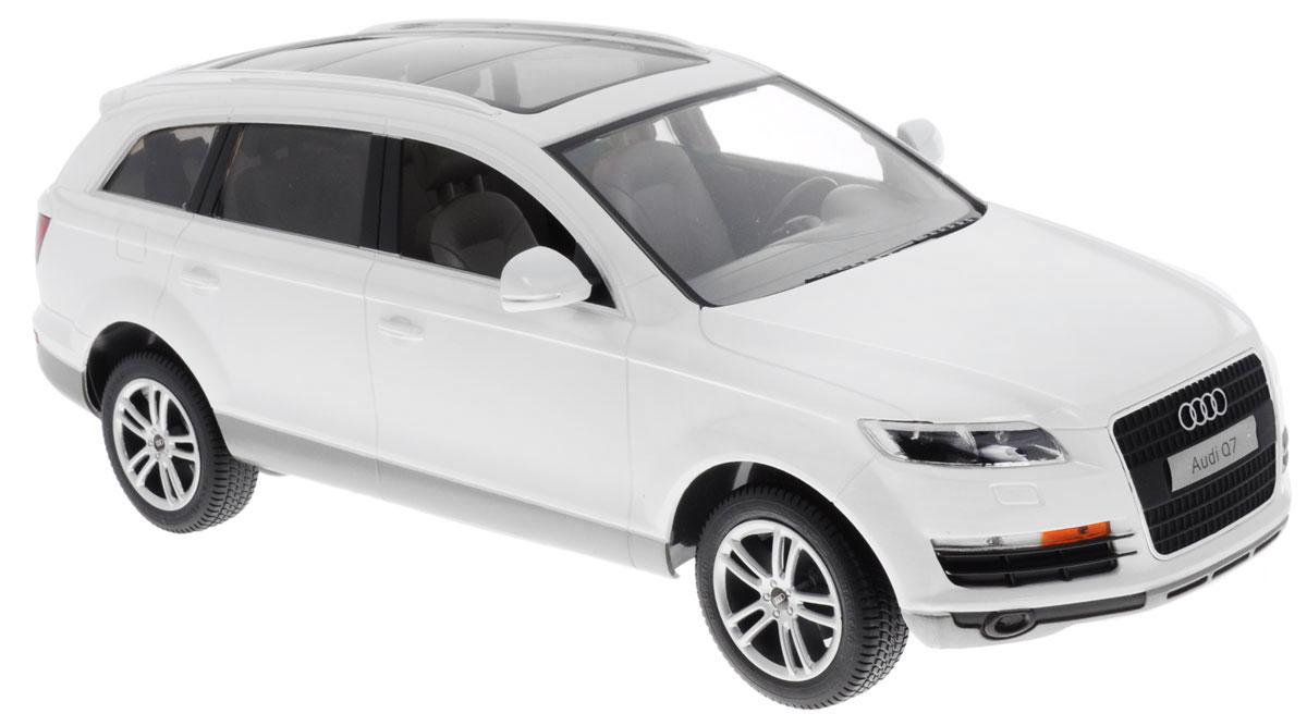 Rastar Радиоуправляемая модель Audi Q7 цвет белый масштаб 1:14 комплект электрики westfalia audi q7 2006 305500300113