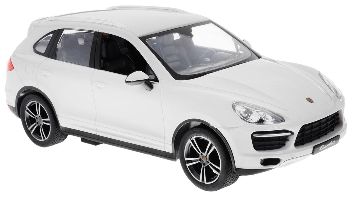 Rastar Радиоуправляемая модель Porsche Cayenne Turbo цвет белый масштаб 1:14 autotime модель автомобиля porsche cayenne turbo