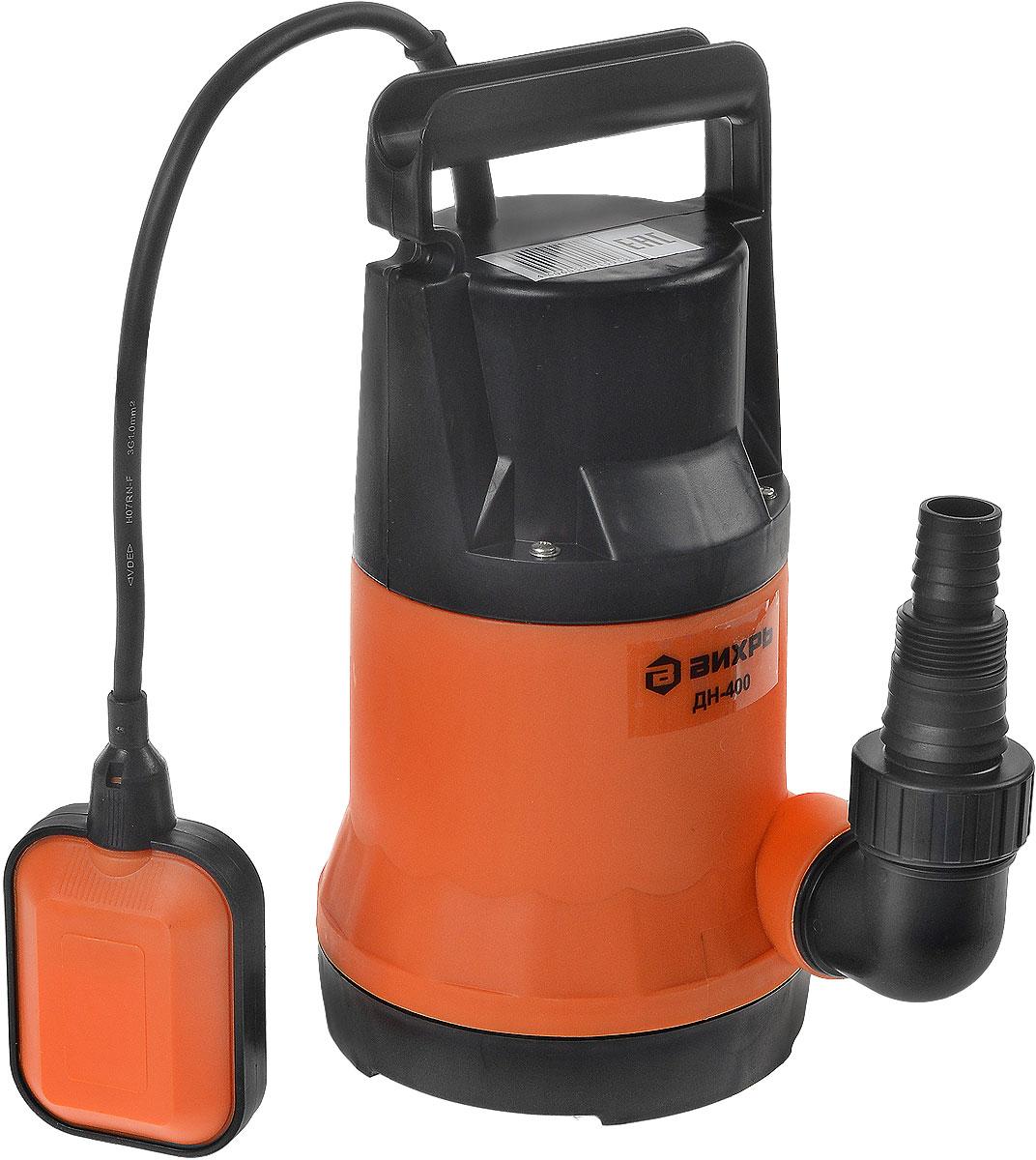 Дренажный насос Вихрь ДН-400, цвет: оранжевый дренажный насос вихрь дн 400 цвет оранжевый