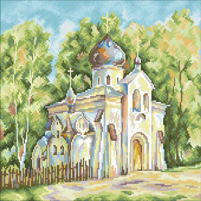 Набор для вышивания крестом RTO Усадьба Абрамцево, 27 х 22 см набор для вышивания крестом rto дом милый дом 34 х 27 см