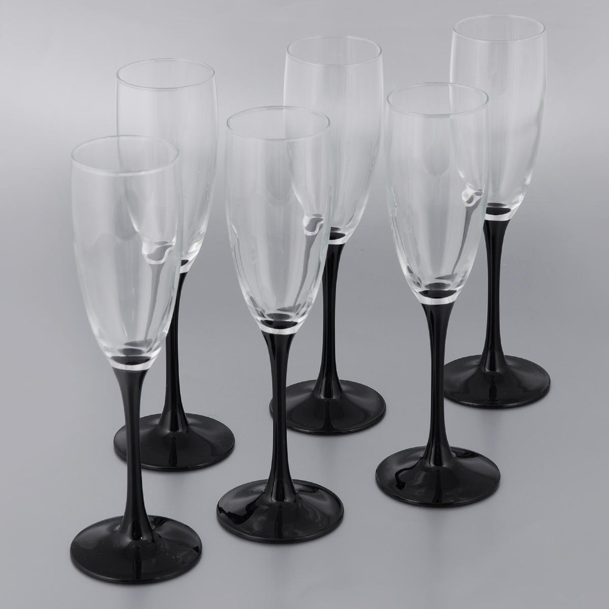 """Набор фужеров для шампанского Luminarc """"Домино"""", 170 мл, 6 шт"""