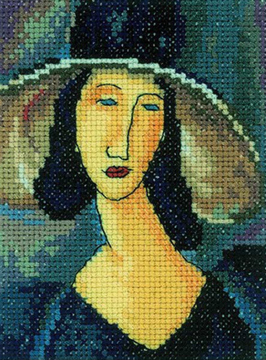 Набор для вышивания крестом RTO Портрет женщины в шляпе, 10 х 13 смEH336Красивый рисунок-вышивка, выполненный на канве, выглядит оригинально и всегда модно. Работа, сделанная своими руками, создаст особый уют и атмосферу в доме и долгие годы будет радовать вас и ваших близких. Набор для вышивания содержит все необходимые материалы. Вышивка выполняется швом счетный крест. Рисунок создан по мотивам работы Амедео Модильяни. В состав набора входит: - канва Aida 14 цвета экрю (100% хлопок; 5,5 клеток = 1 см; рисунок не нанесен), - вышивальные нитки-мулине DMC на карте, разобранные по цветам (23 цвета, 100% хлопок), - символьная схема, - инструкция, - игла для вышивания. Рекомендуем!