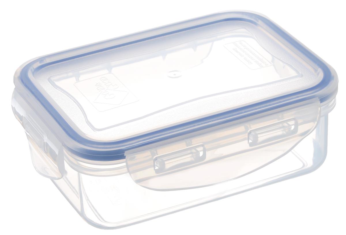 Контейнер пищевой Good&Good, цвет: прозрачный, темно-синий, 330 мл контейнер пищевой good