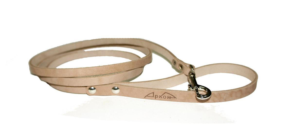 Поводок для собак Аркон Стандарт, цвет: бежевый, ширина 0,8 см, длина 140 смп8Поводок для собак Аркон Стандарт изготовлен из высококачественной натуральной кожи. Карабин выполнен из легкого сверхпрочного сплава. Изделие отличается не только исключительной надежностью и удобством, но и привлекательным современным дизайном. Поводок - необходимый аксессуар для собаки. Ведь в опасных ситуациях именно он способен спасти жизнь вашему любимому питомцу. Иногда нужно ограничивать свободу своего четвероногого друга, чтобы защитить его или себя от неприятностей на прогулке. Длина поводка: 140 см. Ширина поводка: 0,8 см.