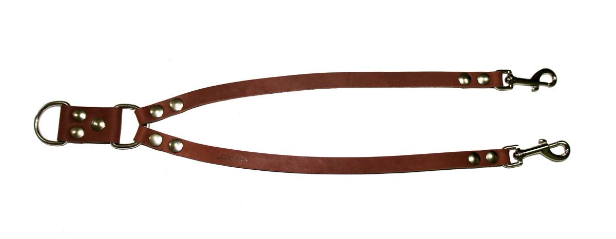 """Сворка для собак Аркон """"Стандарт"""", цвет: коньячный, ширина 1,6 см, длина 57 см"""