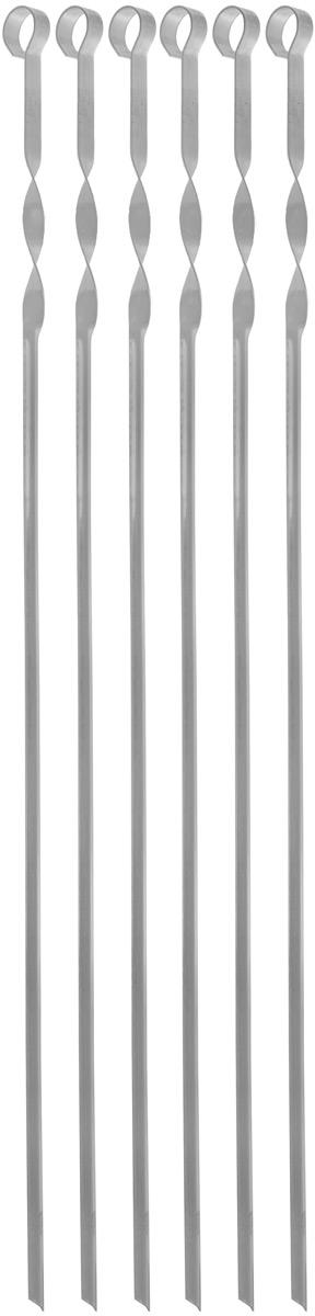 Набор угловых шампуров Искра, 65 см, 6 шт набор угловых шампуров gipfel в чехле длина 45 см 6 шт