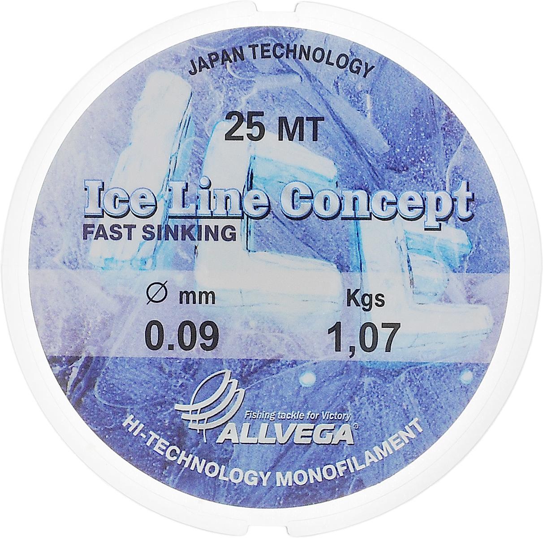 Леска Allvega Ice Line Concept, сечение 0,09 мм, длина 25 м