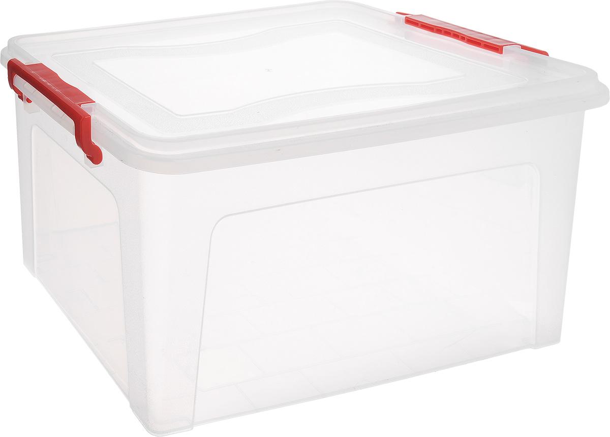 Контейнер для хранения Idea, прямоугольный, цвет: прозрачный, 25 л контейнер для хранения idea прямоугольный цвет салатовый прозрачный 8 5 л
