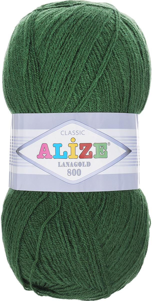 """Пряжа для вязания Alize """"Lanagold 800"""", цвет: болотный (118), 800 м, 100 г, 5 шт"""