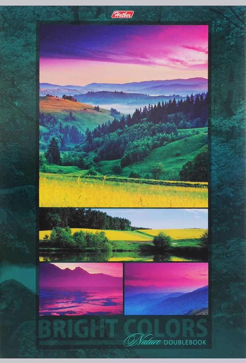 Hatber Тетрадь Яркие краски природы 96 листов в клетку цвет зеленый