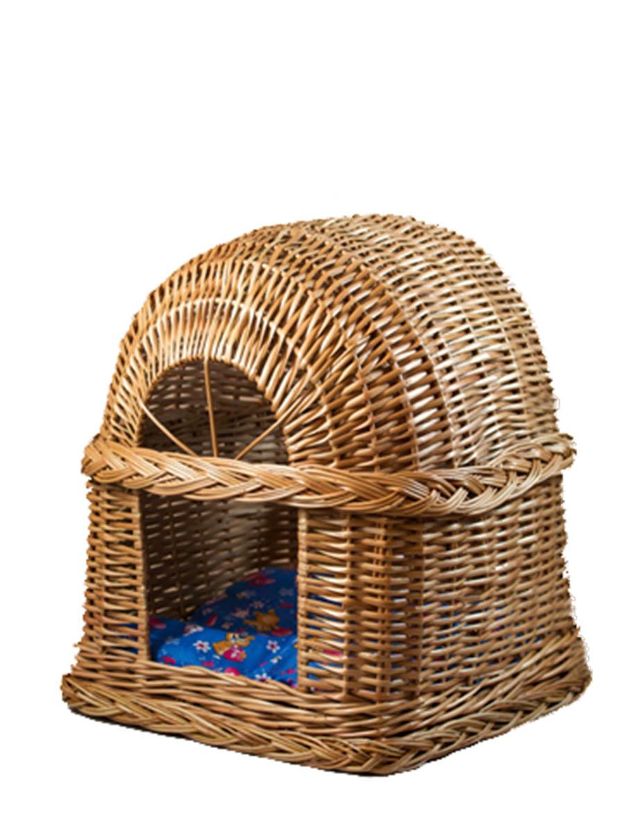 Домик для кошек Меридиан Будка, из лозы, №1, 34 х 34 х 37 см лежанка дарэлл rp9701 домик будка n1 37 37 37 бязь