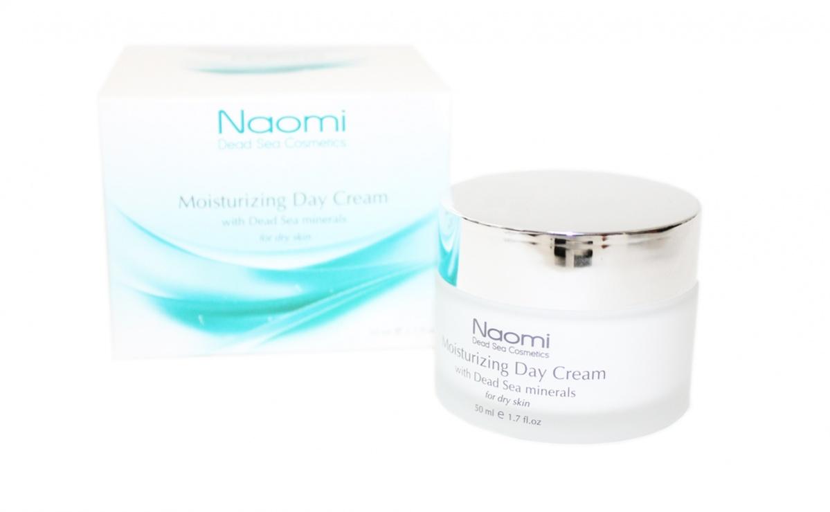NaomiКрем для лица увлажняющий с минералами Мертвого моря, дневной, для сухой кожи, 50 мл Naomi