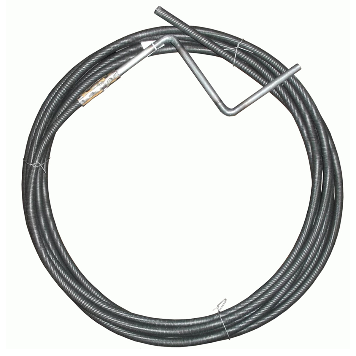Трос пружинный для прочистки канализационных труб Masterprof, 6 мм х 5 м трос для прочистки канализационных труб 9 мм х 10 м