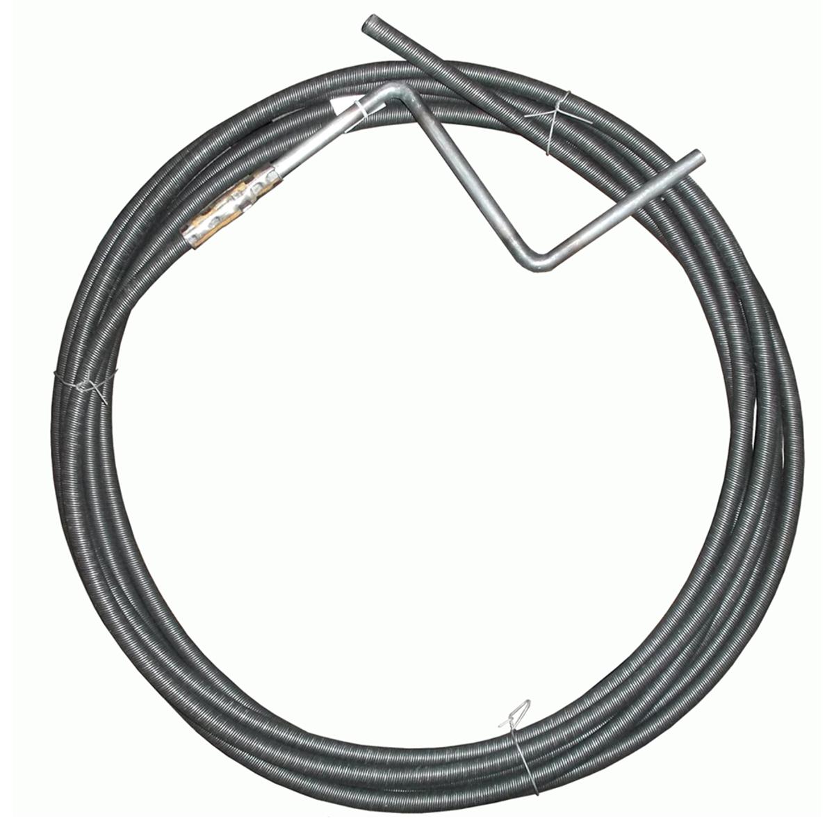 Трос для прочистки канализационных труб Masterprof, пружинный, 9 мм х 5 м трос пружинный для прочистки канализационных труб masterprof 6 мм х 5 м