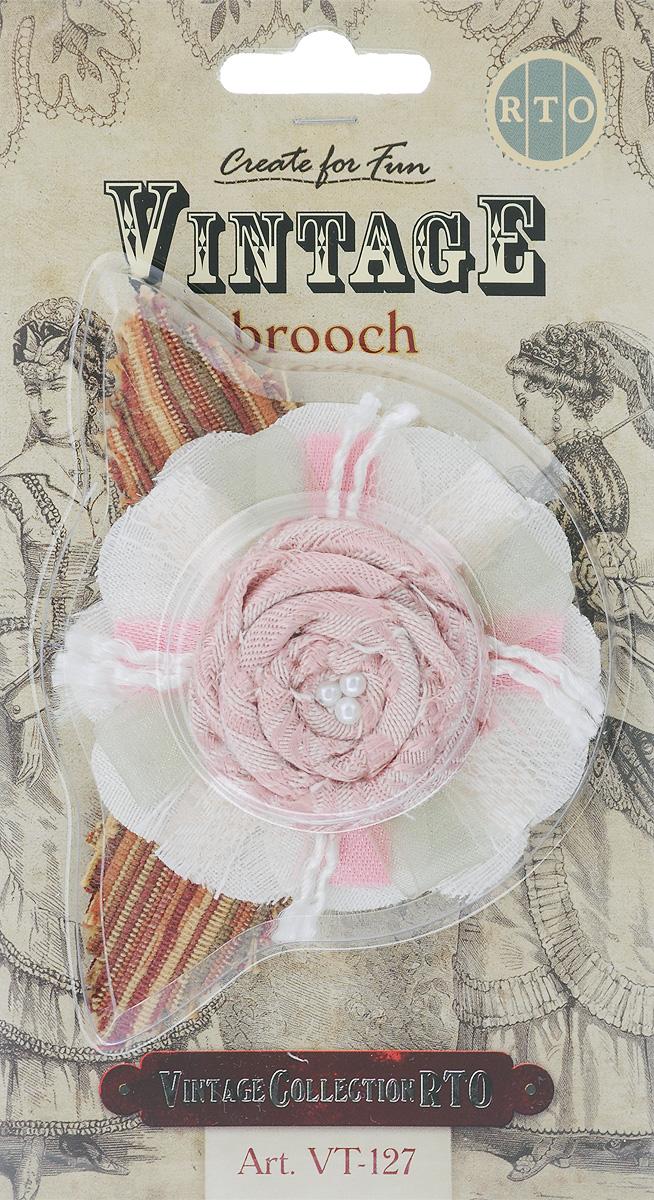 Брошь RTO Роза, цвет: белый, светло-розовый, розовый, 7,5 х 11 смVT-127Оригинальная брошь RTO Роза, изготовленная из хлопчатобумажной ткани в винтажном стиле, выполнена в виде розы и декорирована бусинами. Брошь RTO Роза - эффектный аксессуар для создания гармоничного женского образа. Она дополнит костюм или платье, сочетается с сумкой, поясом и туфлями. Меняются стили, меняется и её внешний вид, но свою актуальность брошь сохраняет. Брошь RTO Роза олицетворяет бесконечность, целостность и завершенность, идеально соответствует утонченности женского образа. Нет острых углов и прямых линий: все обтекаемо, обворожительно, грациозно.