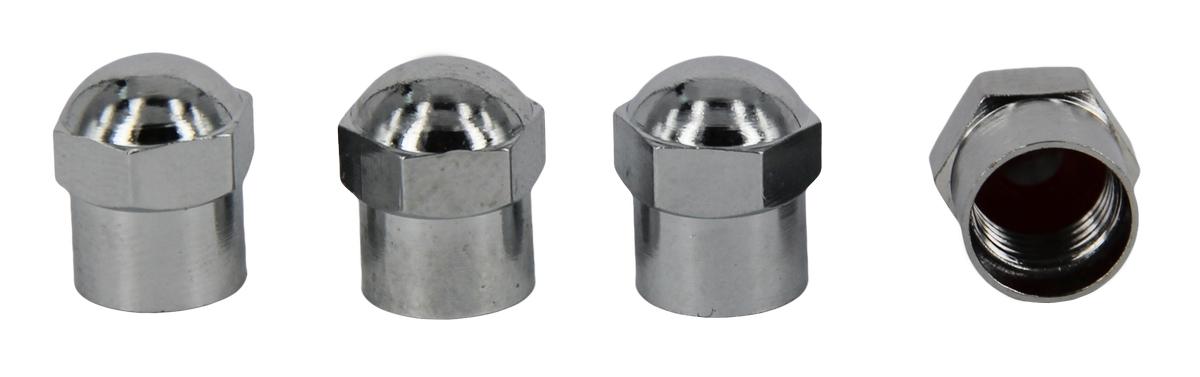 Набор металлических колпачков для ниппеля колеса МастерПроф, хромированные, 4 шт набор синих пластиковых колпачков для ниппеля колеса мастерпроф