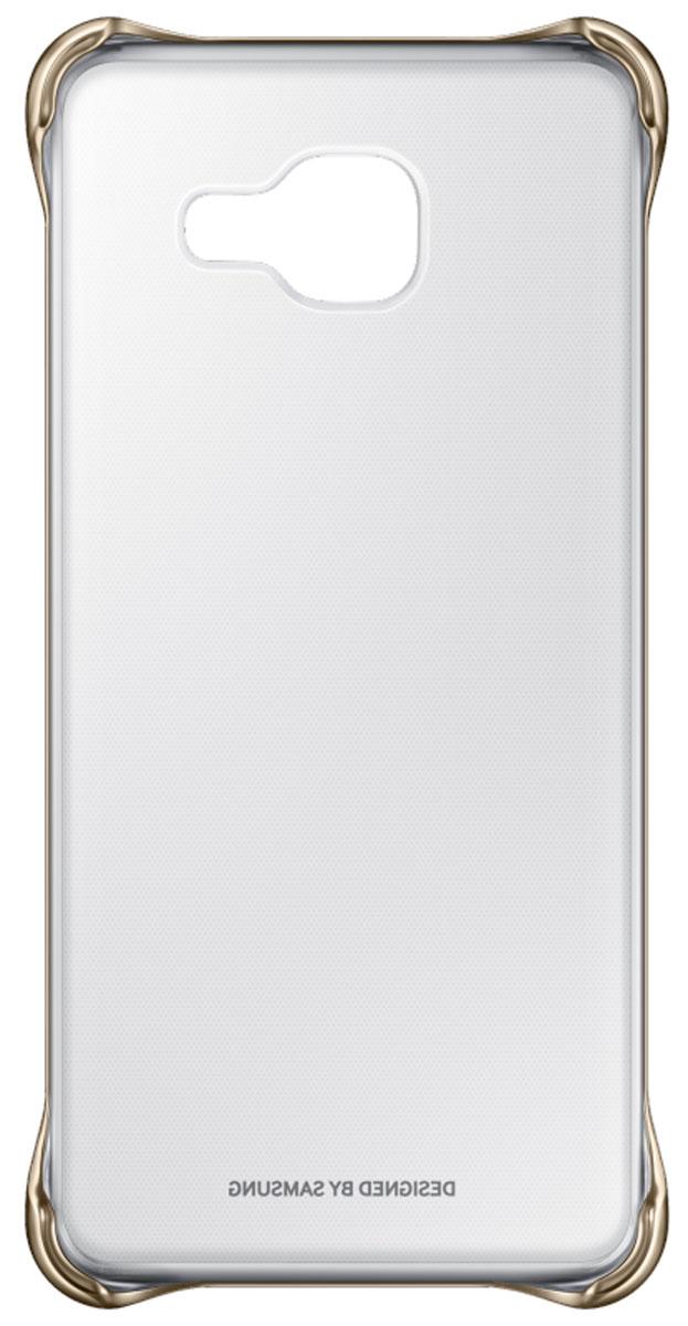 Samsung EF-QA710C Clear Cover чехол для Galaxy A7 (2016), Gold samsung clearcover чехол для galaxy a7 sm a710f silver