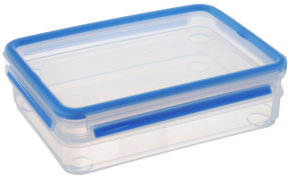 Набор контейнеров Emsa Clip&Close, цвет: прозрачный, голубой, 2 шт набор контейнеров с гибким дном для замораживания питания в наборе 4 контейнера под