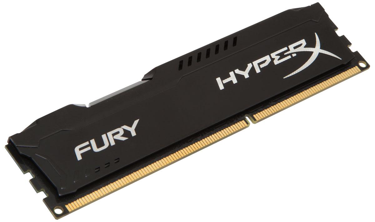 Модуль оперативной памяти Kingston HyperX Fury DDR3 4GB 1866 МГц, Black (HX318C10FB/4) цена и фото