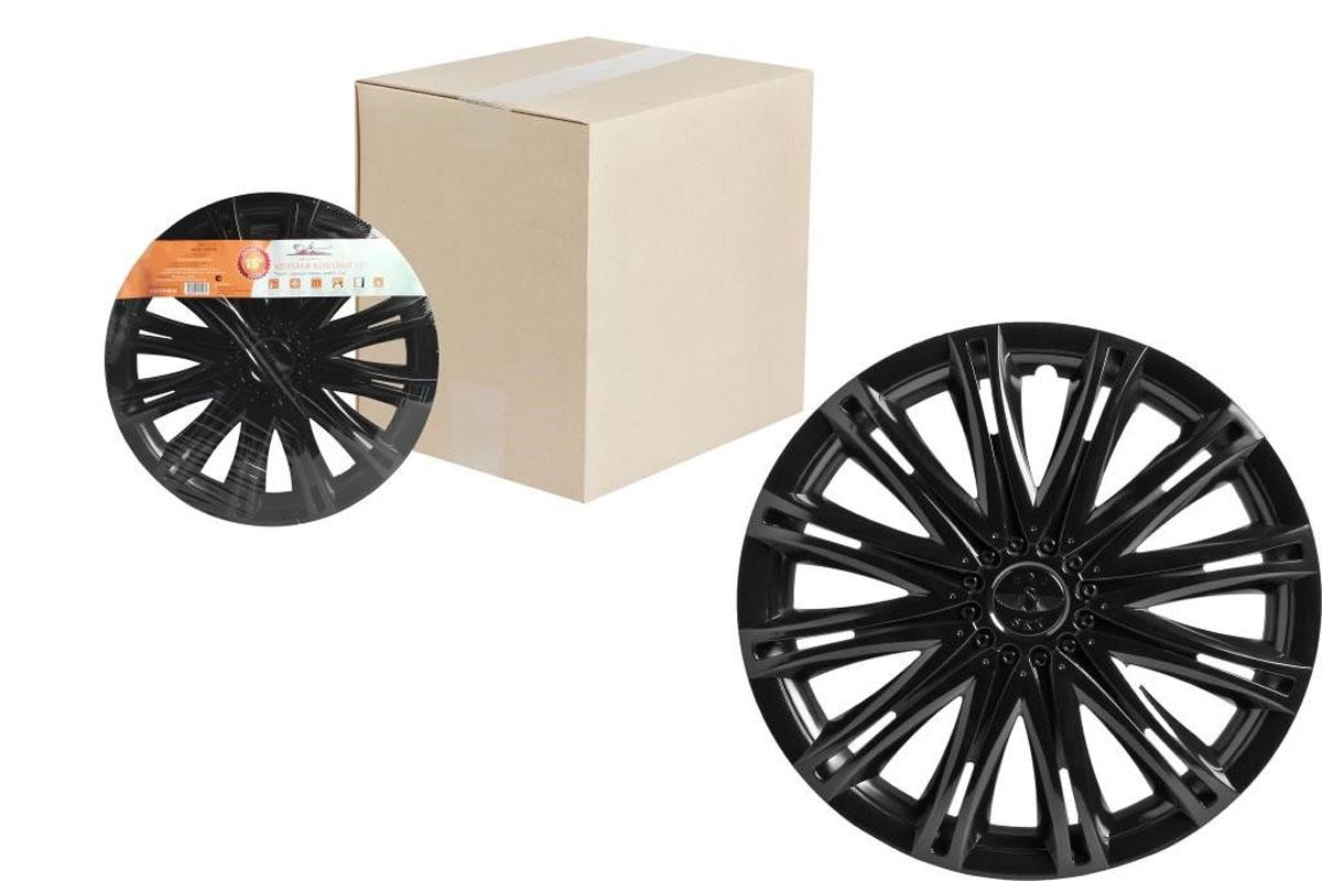 Колпаки колесные Airline Скай, цвет: черный глянец, 13, 2 шт. AWCC-13-13 колпаки на колёса airline awcc 15 06