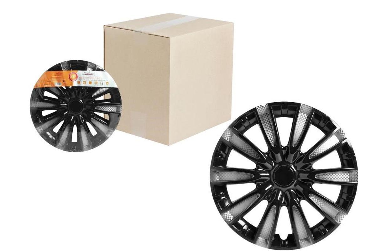 Колпаки колесные Airline Торнадо Т, цвет: серебристо-черный, 14, 2 шт. AWCC-14-10 колпаки 14 k2