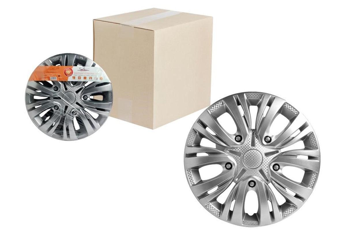 Колпаки колесные Airline Лион, цвет: серебристый, 15, 2 шт. AWCC-15-01 колпаки на колёса airline awcc 15 06