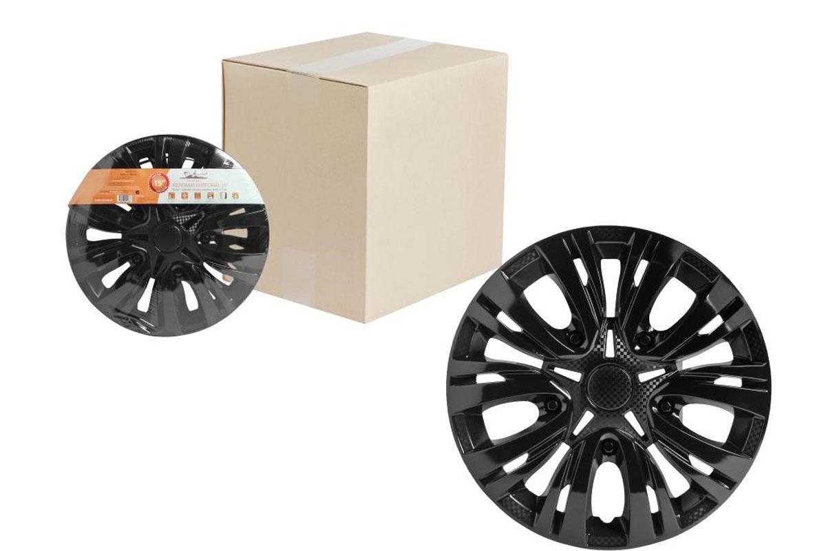 Колпаки колесные Airline Лион, цвет: черный глянец, 15, 2 шт. AWCC-15-04 колпаки на колёса airline awcc 15 06