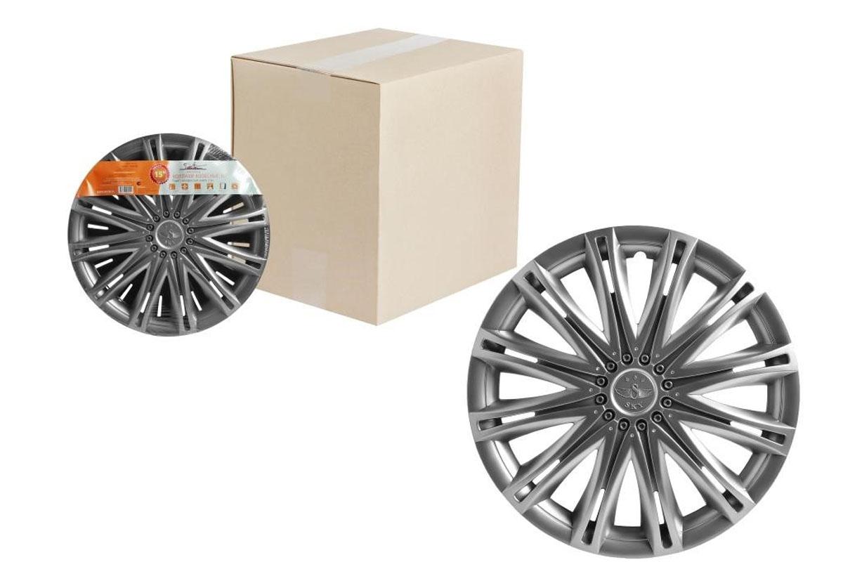 Колпаки колесные Airline Скай, цвет: серебристый, 15, 2 шт. AWCC-15-11 колпаки на колёса airline awcc 15 06