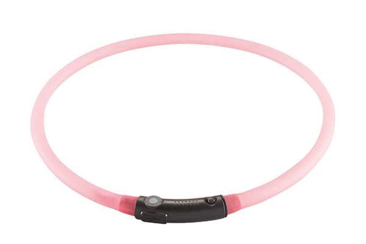 Светящийся шнурок Hunter на шею LED 20-70 см розовый