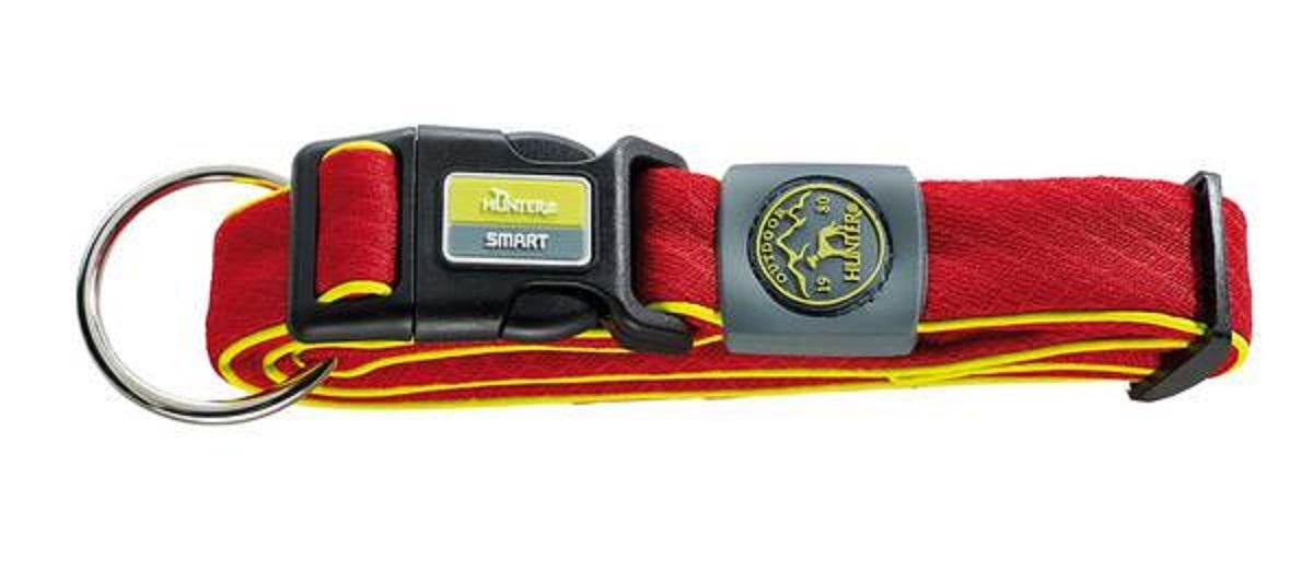 Ошейник для собак Hunter Maui М (36-55 cм) / 2,7 см сетчатый текстиль красный hunter smart hunter шлейка для собак manoa xs 35 41 см нейлон сетчатый текстиль голубой