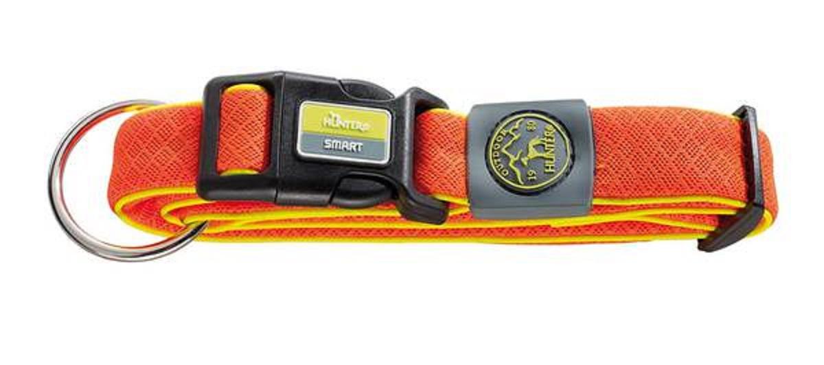 Ошейник для собак Hunter Maui L (42-65 cм) / 4,5 см сетчатый текстиль оранжевый hunter smart hunter шлейка для собак manoa xs 35 41 см нейлон сетчатый текстиль голубой
