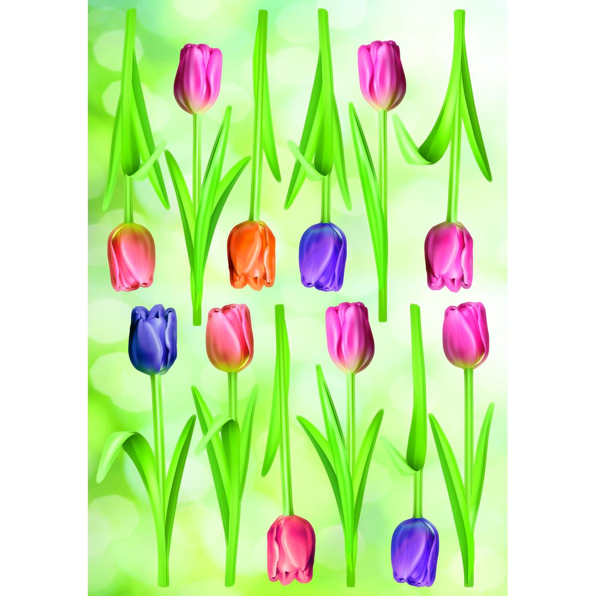 Украшение для стен и предметов интерьера Decoretto Весенние тюльпаны украшение для стен и предметов интерьера decoretto снегири на ветке 11 шт ni 4002