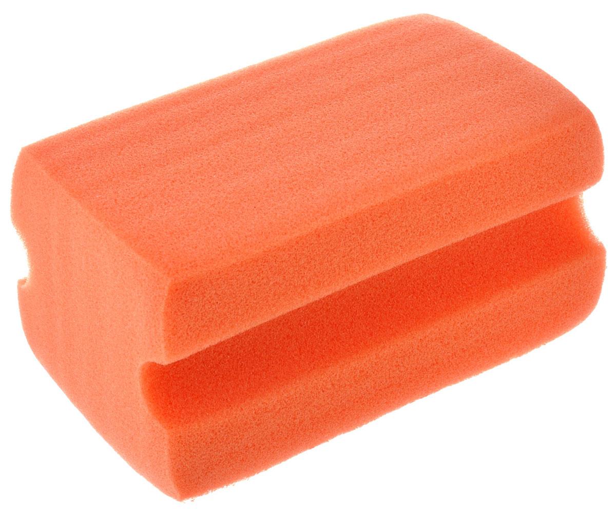Губка для мытья автомобиля Sapfire Альфа, цвет: оранжевый губка aqualine для мытья автомобиля