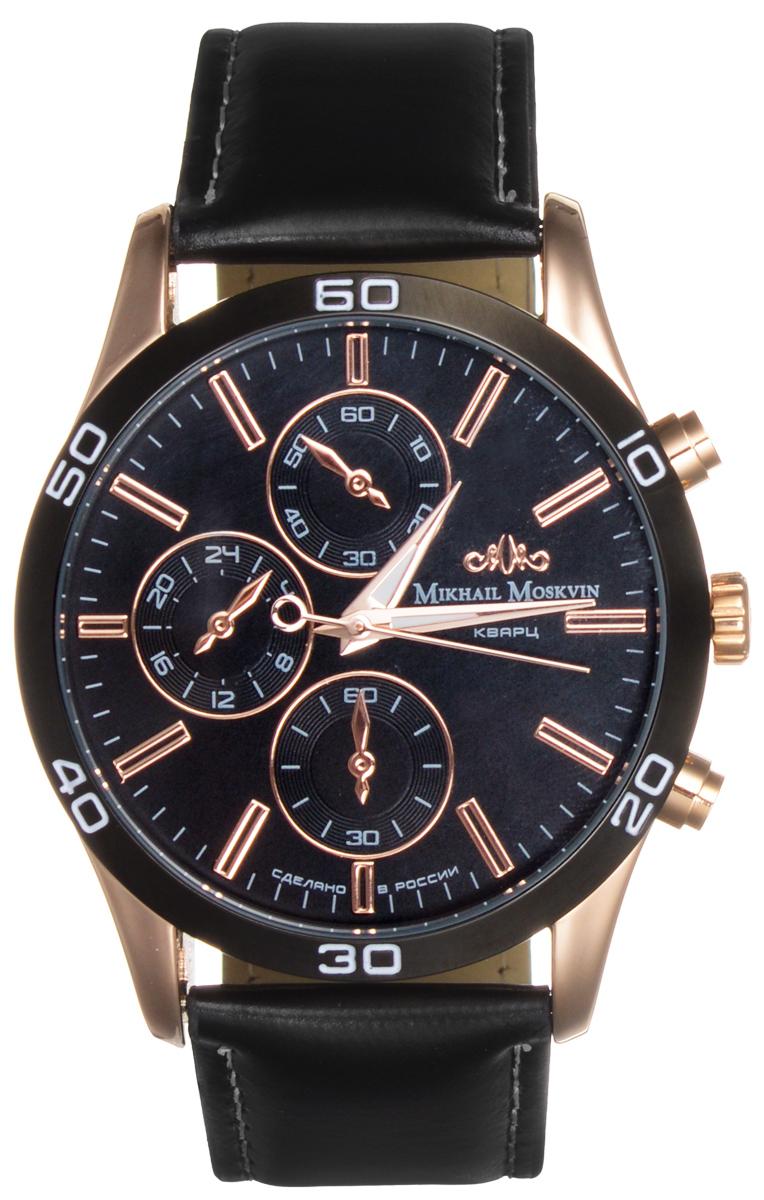 Часы мужские наручные Mikhail Moskvin, цвет: черный, золотой. 1134A3L3 все цены