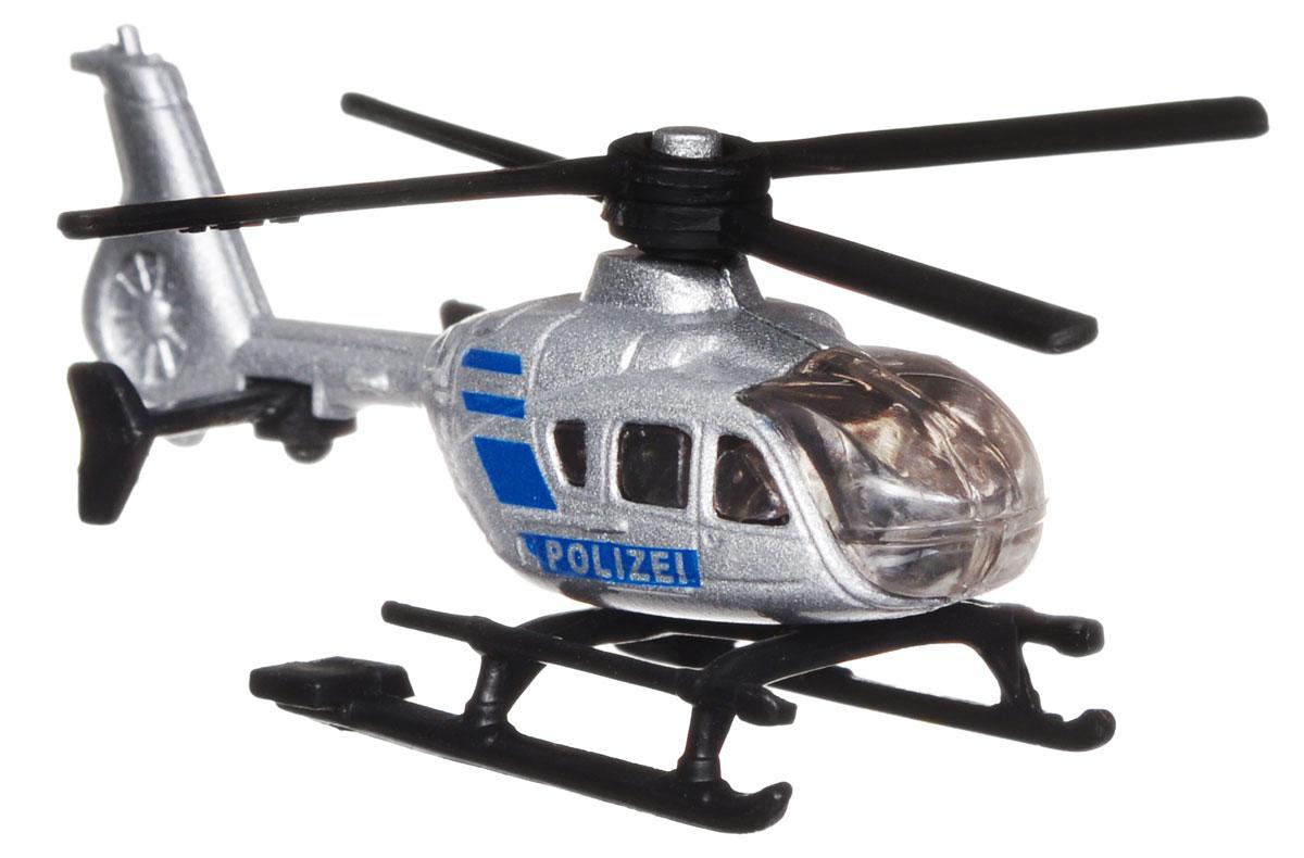 Siku Полицейский вертолет цвет серебристый синий siku полицейский фургон