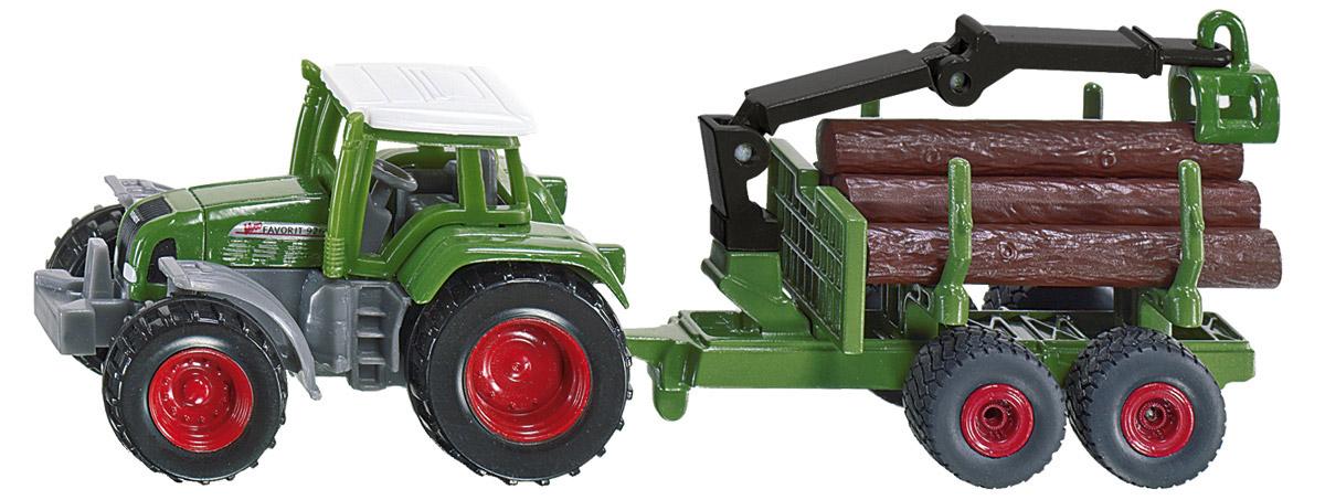 Siku Трактор Fendt c прицепом для бревен siku трактор john deere с пресс подборщиком