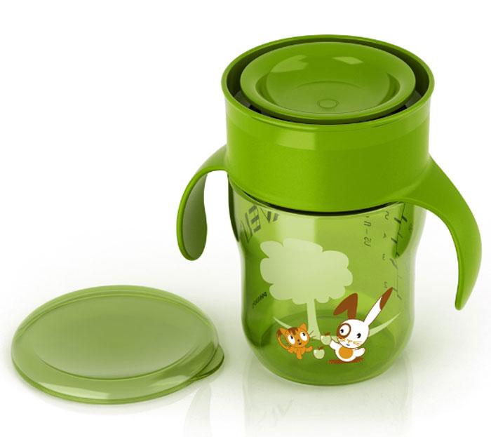 Чашка-поильник Philips Avent, от 9 месяцев, цвет зеленый, 260 мл. SCF782/00 контейнер avent чашка поильник с трубочкой 1 шт розовый от 9 месяцев scf798 02