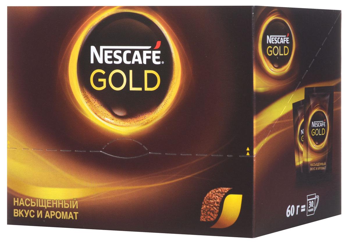 Nescafe Gold 100% кофе растворимый сублимированный, 30 шт