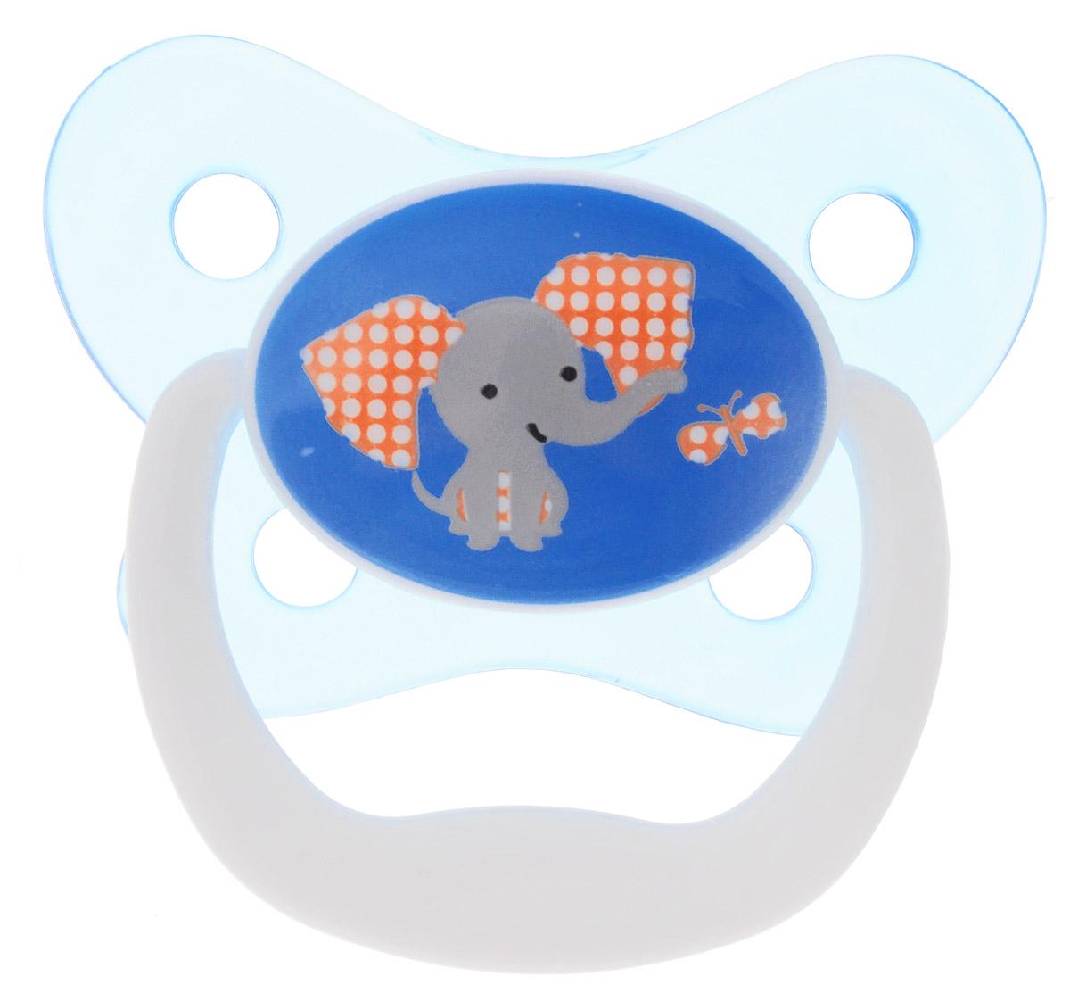 Dr. Brown's Пустышка PreVent Бабочка Слон от 6 до 12 месяцев цвет голубой