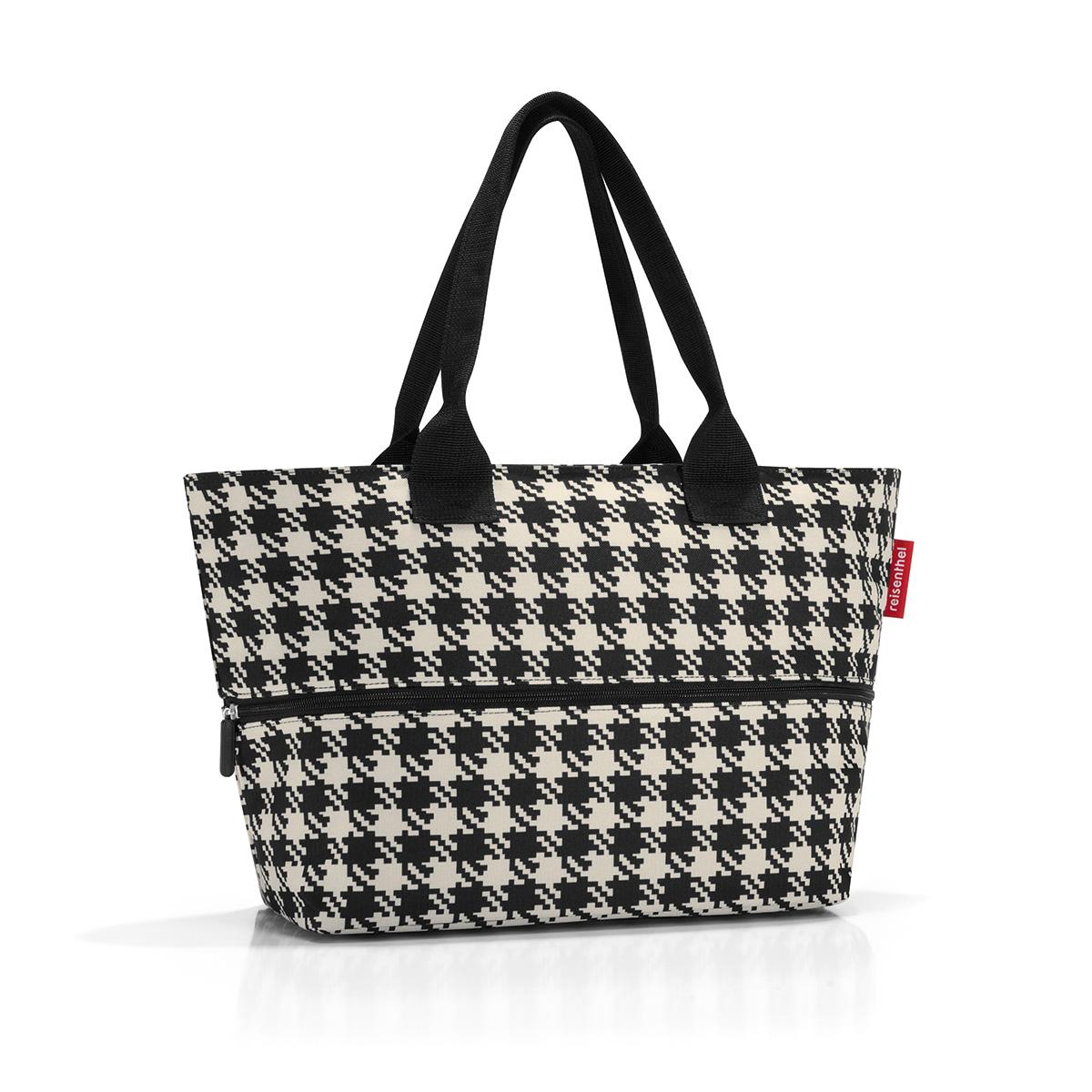 Сумка женская Reisenthel Shopper E1, цвет: черный, бежевый. RJ7028 сумка женская reisenthel цвет бежевый черный ms7027