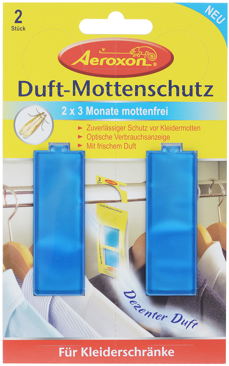 Фото - Душистая подвеска с гелем для защиты от моли Aeroxon, 2 шт подвеска от моли raid антимоль с ароматом весенних цветов 12 шт