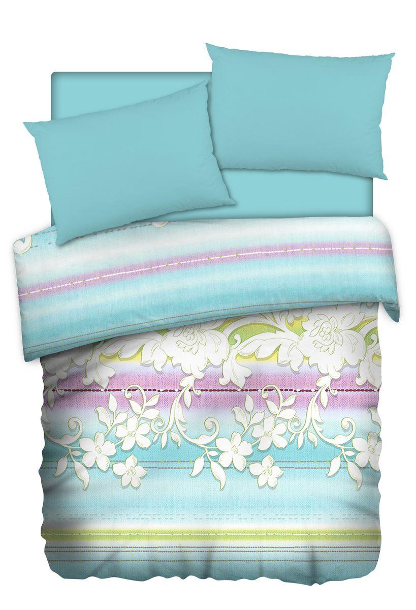 """Комплект белья Carte Blanshe """"Jade"""", 1,5-спальный, наволочки 50x70, цвет: голубой. 333446"""