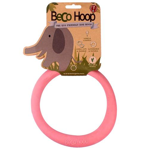 """Игрушка для собак BecoThings """"Кольцо"""", цвет: розовый, размер L"""