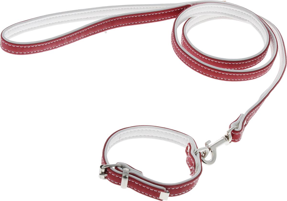 Комплект для животных Аркон Техно, цвет: красный, белый, 2 предмета. кт32