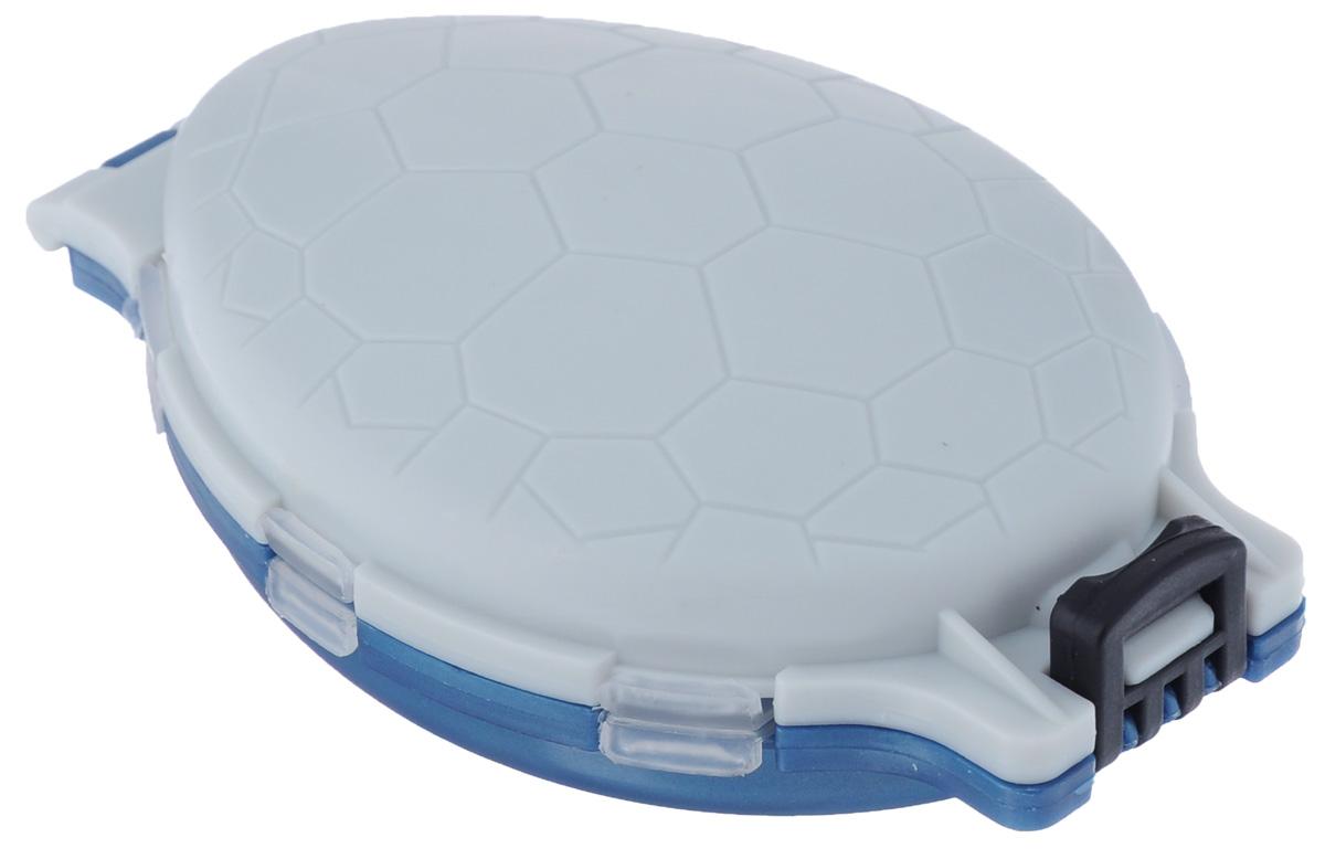 Органайзер для мелочей, двухсторонний, цвет: серый, синий, 11 х 7,5 х 2,5 см коробка для приманок три кита сч 5