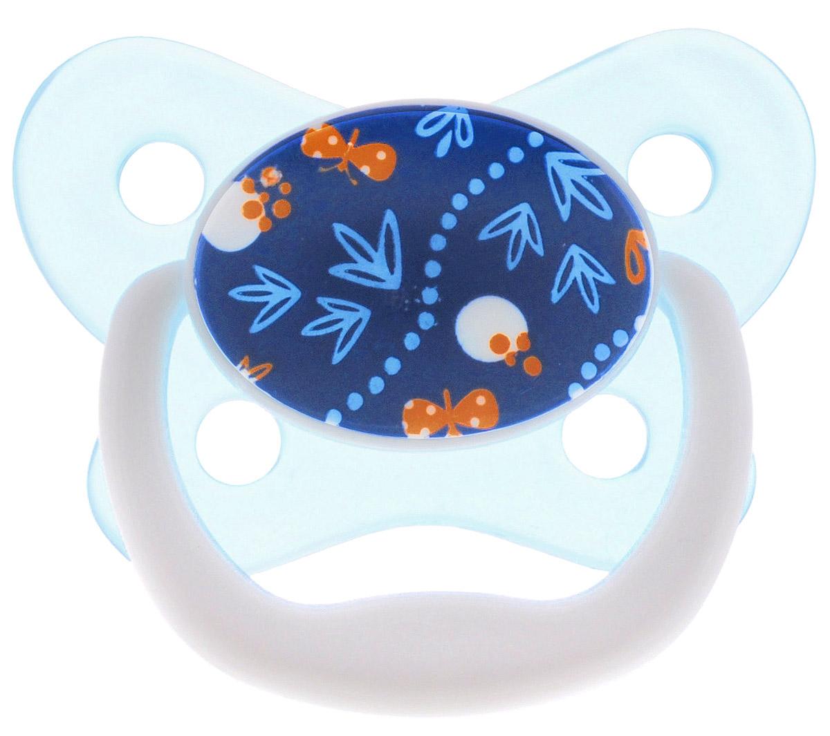 Dr. Brown's Пустышка PreVent Бабочка от 6 до 12 месяцев цвет бирюзовый синий